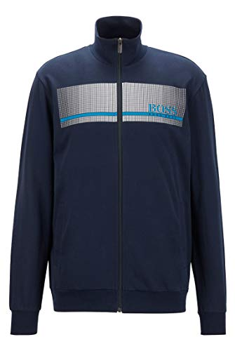 BOSS Herren Authentic Jacket Z Loungewear-Jacke aus French Terry mit...