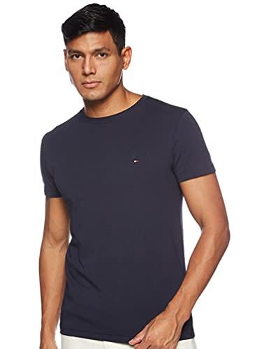 Tommy Hilfiger Herren CORE STRETCH SLIM CNECK TEE T-Shirt, Blau (Navy...