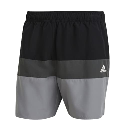 adidas GM2219 Block CLX SL Swimsuit Mens Black/Grey Three L