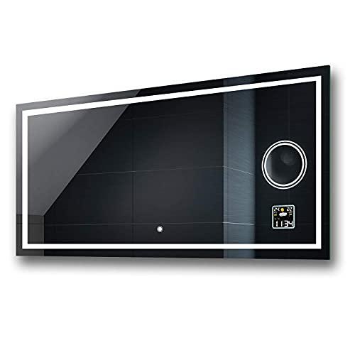 Badspiegel 100x80cm mit LED Beleuchtung - Wählen Sie Zubehör -...