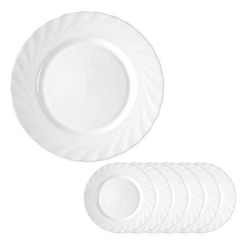 Arcoroc ARC D6890 Trianon Uni Teller flach, 24,5 cm, Opalglas, weiß,...