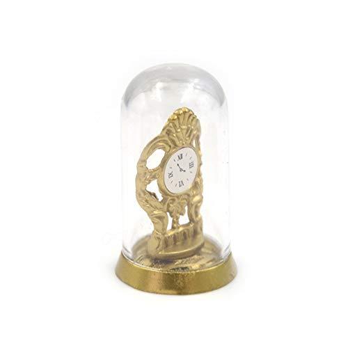lamta1k Miniatur Tischuhr,1/12 Retro Tischuhr mit Kristallabdeckung...
