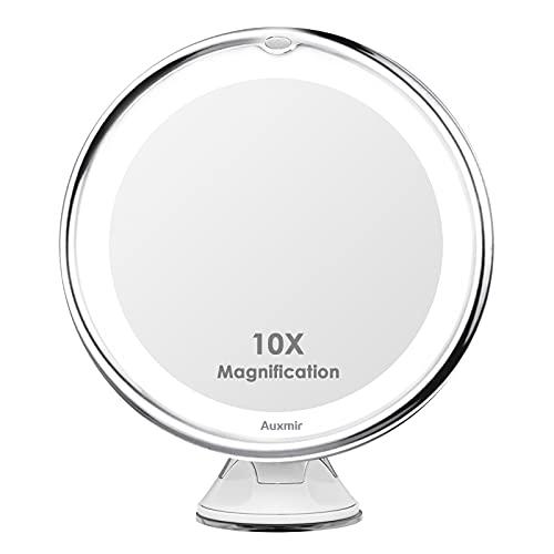 Auxmir Kosmetikspiegel LED Beleuchtet mit 10x Vergrößerung, 2...