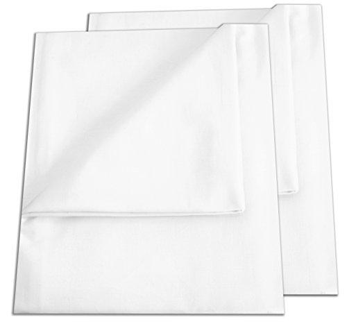 2er Pack Betttuch/Bettlaken/Haustuch 250x150 cm weiß von Green Mark...