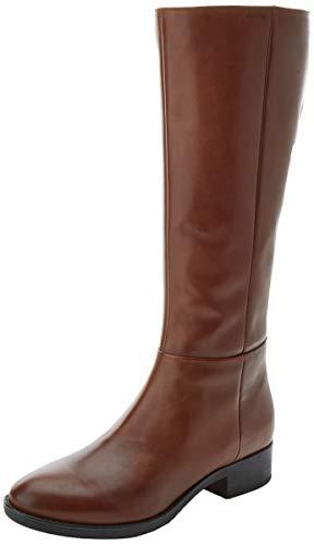 Geox Damen D FELICITY D Knee High Boot, Brown, 40 EU