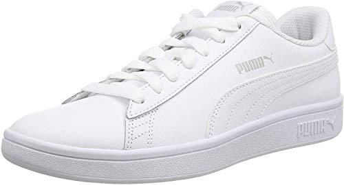 PUMA Unisex Smash V2 L 251 Sneaker, White White, 42 EU