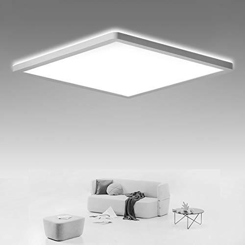 SHILOOK LED Deckenleuchte Flach, 18W Deckenlampe Eckig Panel für Bad/...