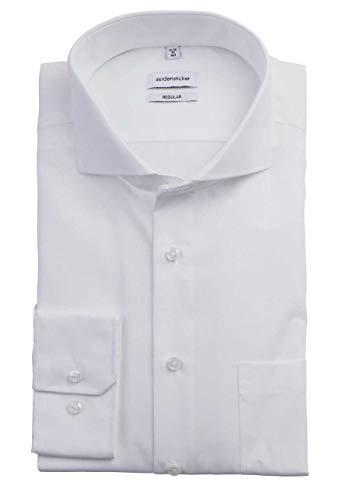 Seidensticker Herren Business Hemd Modern Fit Langarm, Weiß (01...