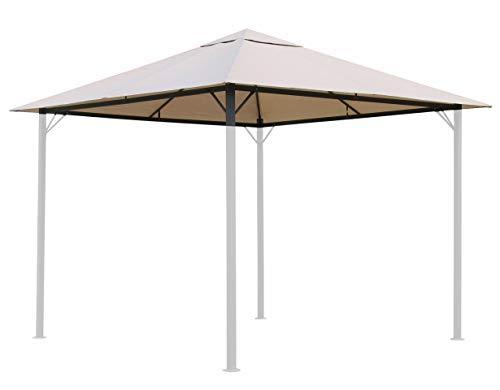 QUICK STAR Ersatzdach für Garten Pavillon 3x3m Sand Antik...