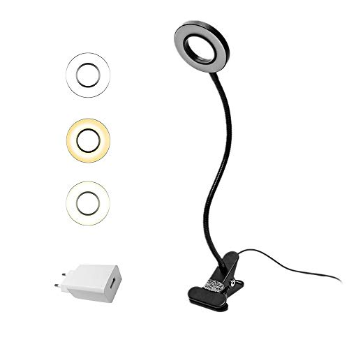 Eyocean LED Leselampe, Schwanenhals Klemmlampe, Augenpflege...