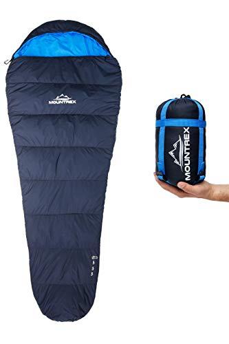 MOUNTREX® Schlafsack - Kleines Packmaß & Ultraleicht (750g) -...
