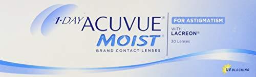 Acuvue 1-Day Moist for Astigmatism Tageslinsen weich, 30 Stück / BC...