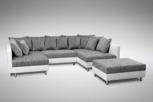 Küchen-Preisbombe Sofa Couch Ecksofa Eckcouch in Weiss/hellgrau...