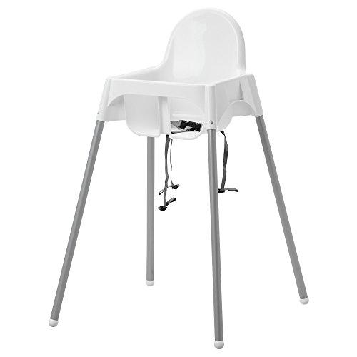 Ikea ANTILOP Kinderstuhl mit Sitzgurt; in weiß