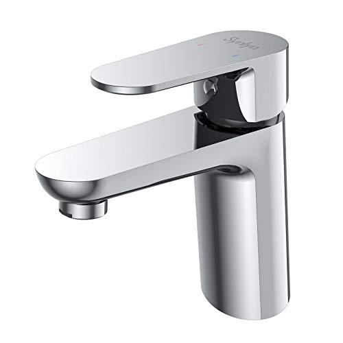 Synlyn Wasserhahn Bad Armatur Waschbecken Armaturen Chrom Badarmatur...