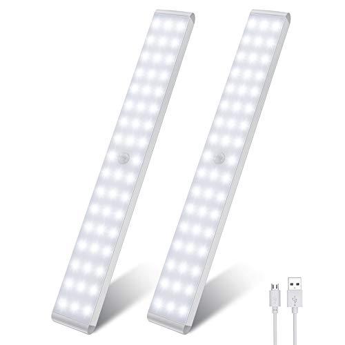 Racokky LED Sensor Licht 50 LEDs,Schrankbeleuchtung,Wiederaufladbar...