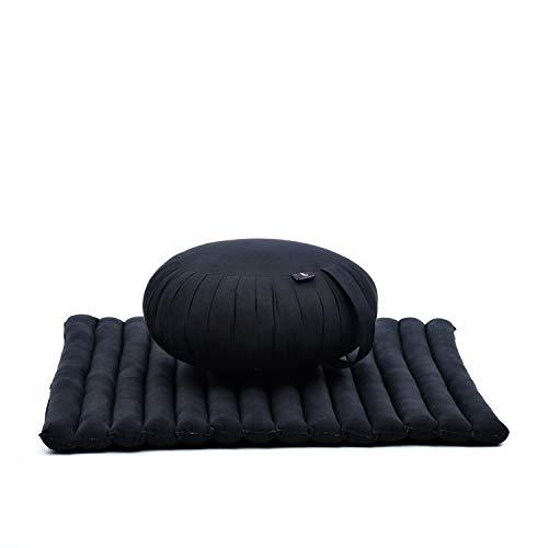 Leewadee Meditationskissen Set Sitzkissen Rund Zafu Yoga Kissen...