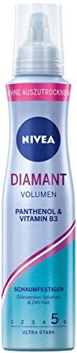NIVEA Diamant Volumen Schaumfestiger Ultra Stark (150 ml), pflegender...