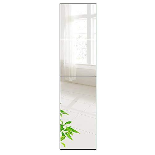 AUFHELLEN Wandspiegel 6 Stück 26x26cm aus Glas Spiegel HD DIY...