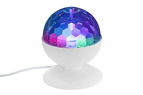 Briloner Leuchten LED Tischlampe mit bunten Disco-Lichteffekten,...