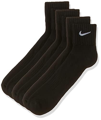 Nike Unisex Socken Value Cotton Quarter 3 er Pack, Schwarz...