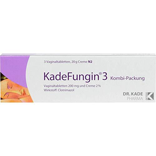 KadeFungin 3 Kombi-Packung Vaginaltabletten und Creme, 1 St....