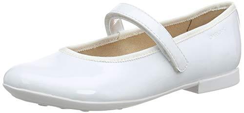 Geox Mädchen Jr Plie' A Geschlossene Ballerinas, Weiß, 30 EU