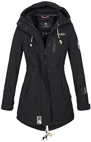Marikoo Damen Winter Jacke Winterjacke Mantel Outdoor wasserabweisend...