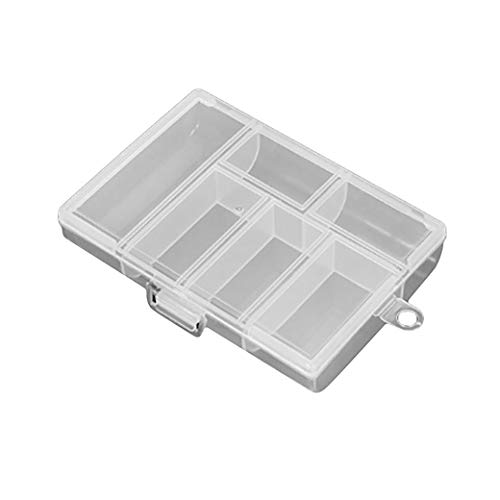 HBWHY 6 Gitter Transparente Aufbewahrungsbox Klare Nähzubehör...