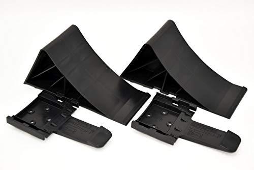 Komplett-Set: Unterlegkeile incl. Halter 2 Stück schwarz - 1600 kg -...