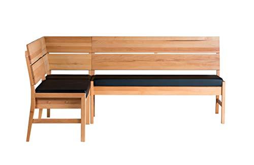 Amazon Brand – Gotland Eckbank, 194,8 x 154,8 x 89cm, Kernbuche...