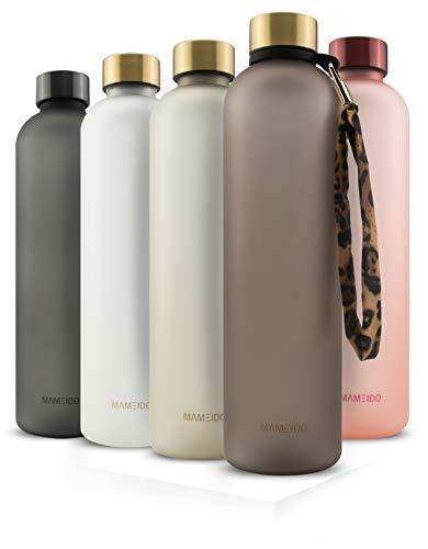MAMEIDO Trinkflasche 1l - auslaufsicher, Kohlensäure geeignet, BPA...