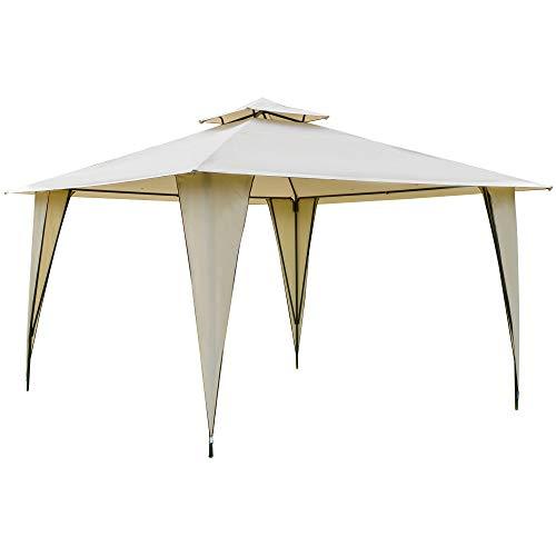 Outsunny Pavillon Partyzelt mit Doppeldach 3,5x3,5x2,7m Festzelt...