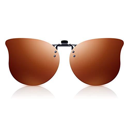 Polarisierte Clip-On Sonnenbrille Herren/Damen mit UV Schutz,...