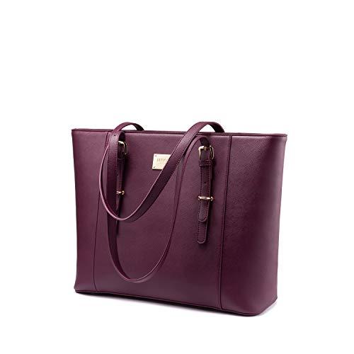 LOVEVOOK Laptop Handtasche Damen 15.6 Zoll, Groß Elegant Business...