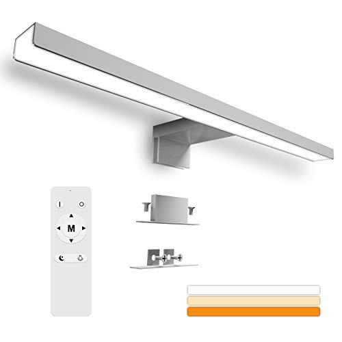 Karrong LED Spiegelleuchte Badezimmer 12W 1200LM 40cm 6000K Edelstahl...