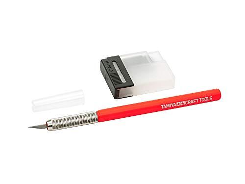TAMIYA 69938 Bastel-Messer mit 25 Klingen Rot, Modellbau-Zubehör,...