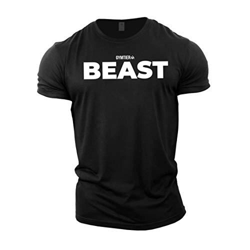 GYMTIER Beast - Bodybuilding-T - Shirt | Herren Fitness T-Shirt...