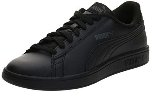 PUMA Unisex Kinder Puma Smash V2 L Jr Sneaker, Schwarz Puma Black Puma...