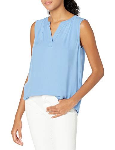 Amazon Essentials Sleeveless Woven Dress-Shirts, Französisch Blau, S