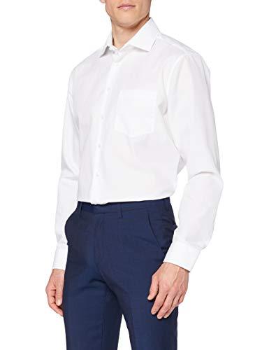 Seidensticker Herren Business Hemd Regular Fit Langarm, Weiß (01...