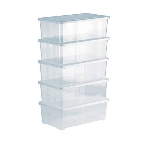 Grizzly Aufbewahrungsboxen 5 x 5 L mit Deckel transparent -...