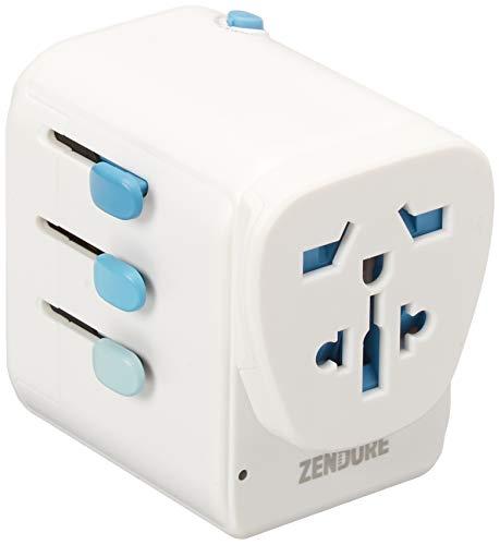 Zendure Passport Pro World Reiseadapter (5 A Output 4-Port Ladegerät...