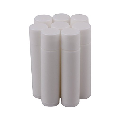 HugeStore 5ML Weiß Leer Kunststoff Lippenpflegestift Rohre...
