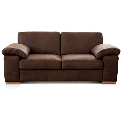 Cavadore 3-Sitzer Sofa Ventere / Kleine Couch in Wildlederoptik / 200...