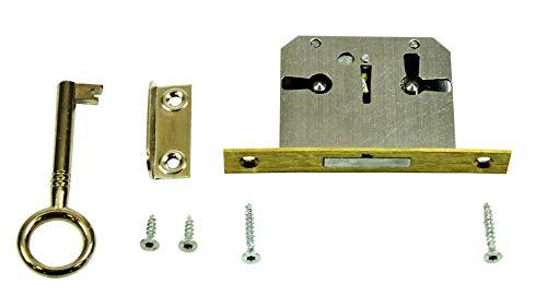 SN-TEC Einsteckschloss/Möbelschloss/Schrankschloss mit Zuhaltung 30mm...