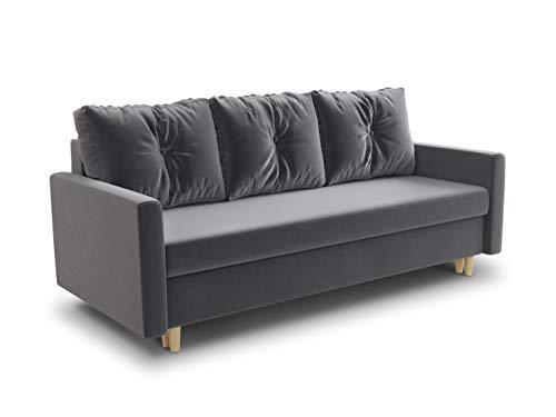 Schlafsofa Rico - Couch mit Schlaffunktion Sofa mit Bettkasten...