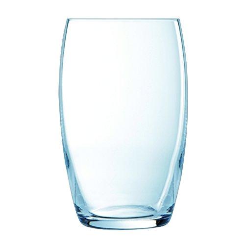 Luminarc 6 Hohe Trinkgläser Versailles, Glas, Transparent, 37 cl