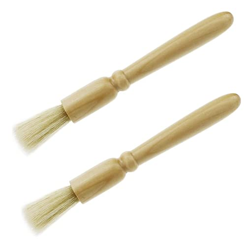Ecloud Shop® Holz Griff und natürliche Borsten Holz Staub Zubehör...