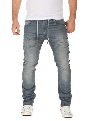 WOTEGA Herren Jeans Noah - Sweathose in Jeansoptik - Männer...